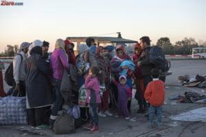 Refugiatii, la coada sa treaca granita sarbo-croata, in drum spre Slovenia