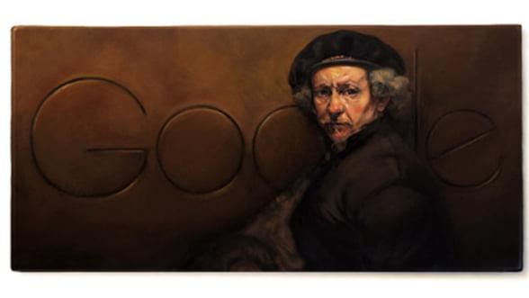 Rembrandt, aniversat de Google printr-un logo special
