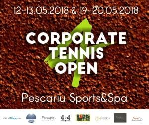 Reprezentantii mediului de business concureaza pentru un loc pe podiumul Corporate Tennis Open 4
