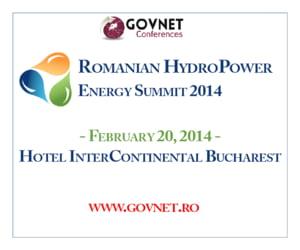 Romanian HydroPower Energy Summit 2014 - evenimentul industriei hidroenergetice din Romania