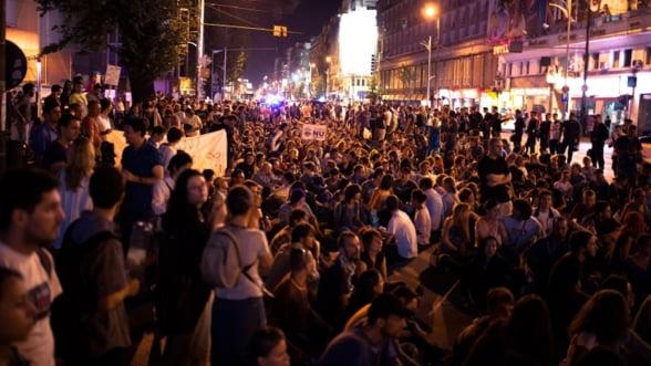Rosia Montana. Protestele continua, jandarmii au intervenit duminica