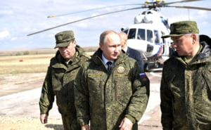 Rusia face ample exercitii militare, inclusiv in Marea Neagra. 12.000 de soldati, 213 sisteme antiracheta, submarine nucleare