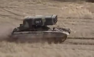 Rusii au trimis in Ucraina lansatoare de rachete incendiare