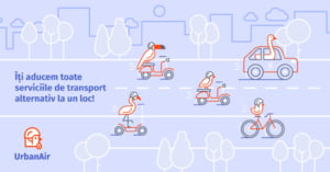 S-a lansat platforma UrbanAir, pentru sharing de biciclete, trotinete electrice si masini