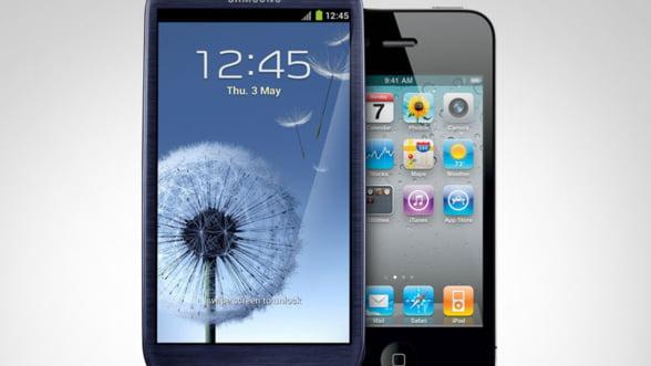 Samsung versus Apple, atacuri reciproce in instanta vizand iPhone 5 si Galaxy S III