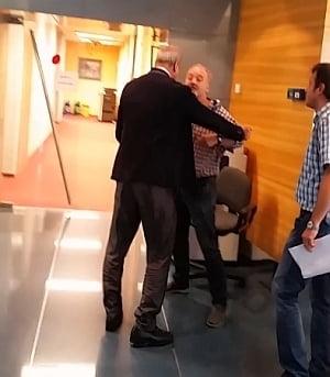 Scandal la ROMATSA: Directorul s-a imbrancit cu un sindicalist (Video)