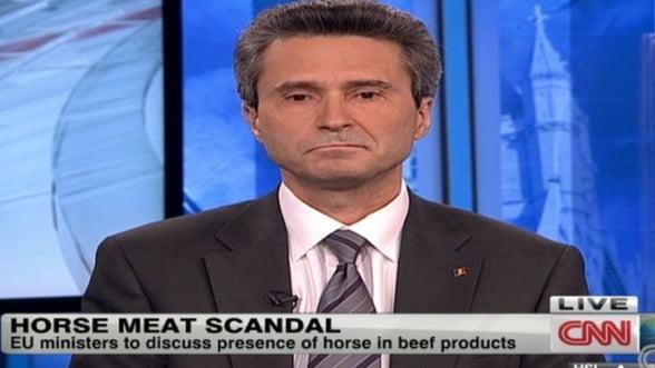 Scandalul carnii de cal: Ambasadorul Romaniei s-a emotionat la CNN (VIDEO)