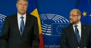 Schulz l-a primit pe Iohannis: A fost o premiera. Am discutat o ora intreaga in limba germana