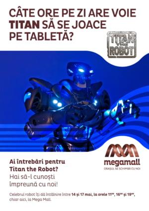 Se deschide Mega Mall: Vizitatorii, intampinati de robotul care a urcat pe scena cu Rihanna