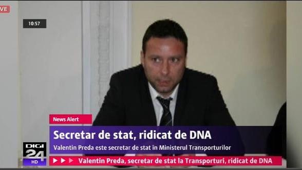 Secretar de stat in Ministerul Transporturilor, ridicat de DNA