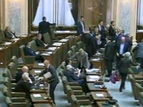 Senatul a respins proiectul privind reducerea numarului de parlamentari la 300