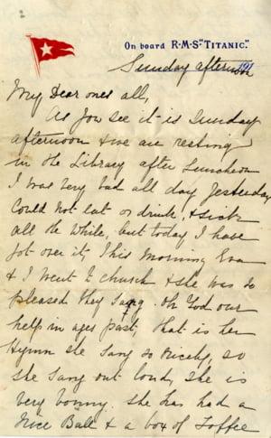 Sfidand trecerea timpului, o scrisoare de pe Titanic va fi scoasa la licitatie