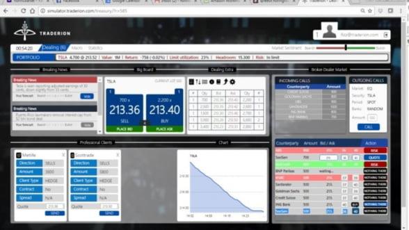 Simulatorul folosit de peste 25.000 traderi din banci pentru a se antrena fara sa piarda bani, dezvoltat in Romania