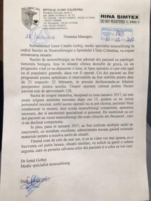 Situatie critica la Spitalul Colentina cu managerul pus de Firea: Un neurochirurg acuza ca pacientii sunt condamnati la moarte