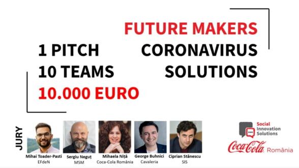 Solutii pentru problemele cauzate de coronavirus, premiate cu 10.000 de euro la Future Makers