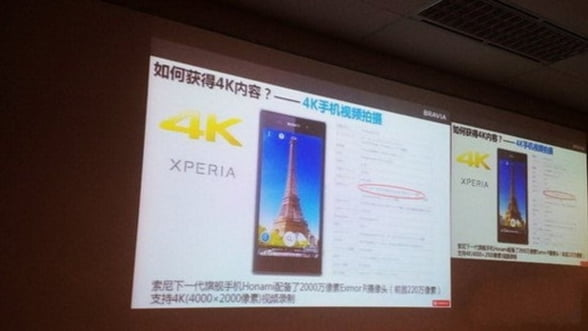 Sony Honami ar putea fi primul smartphone care filmeaza la 4K