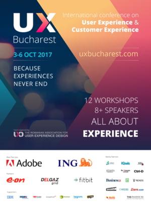 Speakeri de top la UX Bucharest 2017 - Conferinta Internationala de User Experience Design, 2nd Edition