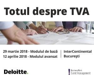 """Specialistii Deloitte Romania va invita sa participati la seminarul """"Totul despre TVA"""""""