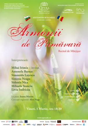 Spectacol de Martisor, pe 1 martie, la Opera Nationala Bucuresti