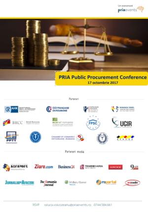 Strategia nationala in domeniul achizitiilor publice va fi dezbatuta la conferinta PRIA Public Procurement din 8 noiembrie 2017