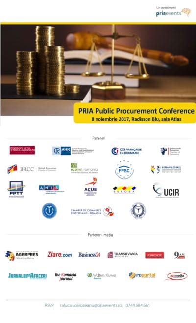 Strategia nationala in domeniul achizitiilor publice va fi dezbatuta la conferinta PRIA Public Procurement in 8 noiembrie 2017