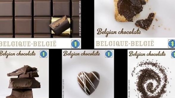 Strategie de marketing: Timbre cu aroma de ciocolata, emise de posta belgiana