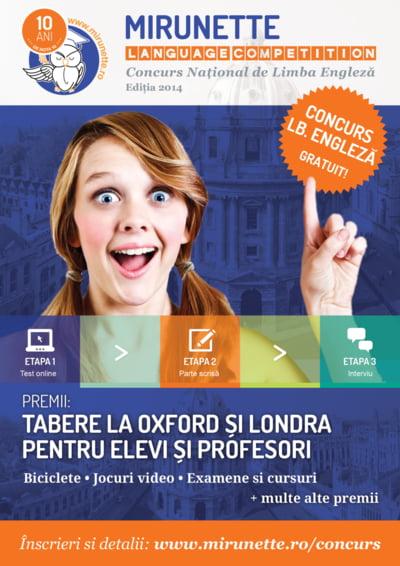 Tabere educationale in Anglia pentru castigatorii Mirunette Language Competition. Cum iti inscrii copilul