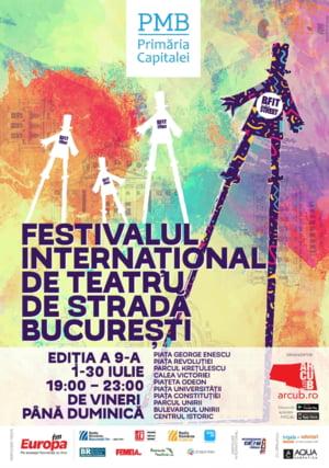 Teatrul international ajunge pe strazile Bucurestiului in luna iulie: 40 de spectacole cu 300 de artisti din 9 tari