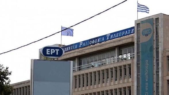 Televiziunea publica din Grecia si-a reluat emisia miercuri, dar nu difuzeaza inca programe