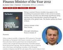 The Banker:Ialomiteanu, ministrul de finante al anului in Europa