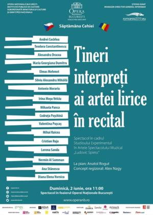 Tineri interpreti ai artei lirice in recital, duminica, in foaierul Operei Nationale Bucuresti
