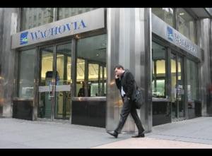 Titlurile bancii americane Wachovia s-au depreciat la jumatate