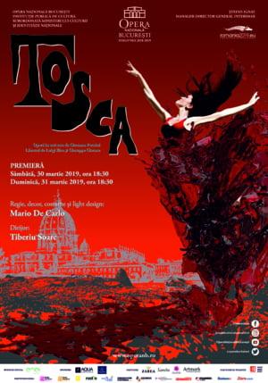 Tosca, cea mai puternica opera a lui Puccini, intr-o noua premiera pe scena Operei Nationale Bucuresti