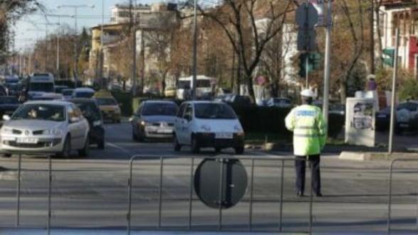 Trafic restrictionat in Capitala, din cauza meciului Romania-Grecia