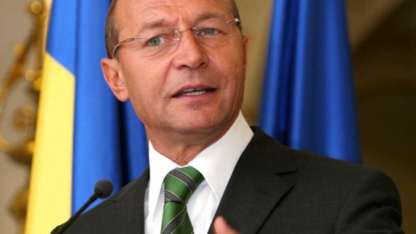 Traian Basescu: Economia Romaniei are semne bune, la industrie si exporturi