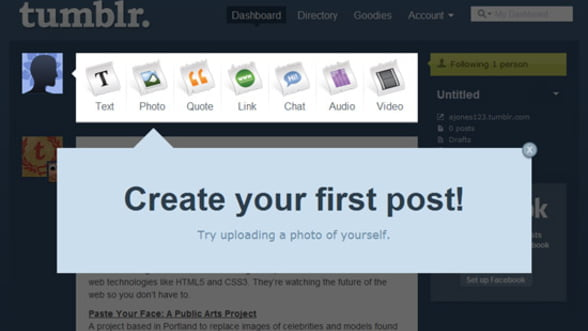"Tumblr, mai cautat decat cuvantul ""blog"""