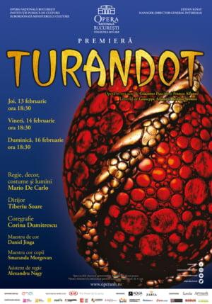 Turandot, testamentul muzical al lui Puccini, in premiera pe scena Operei Nationale Bucuresti