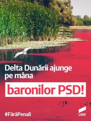USR avertizeaza ca baronii locali PSD distrug Delta Dunarii