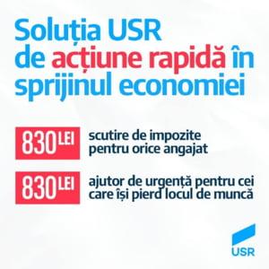 USR cere scutirea de taxe pentru salariul minim si impozitarea cu 90% a pensiilor speciale