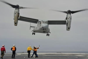 Un avion militar plin cu puscasi marini americani s-a prabusit in ocean