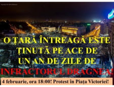 "Un nou protest are loc duminica in Capitala: ""Jos Guvernul Sluga 3.0 lui Dragnea!"""