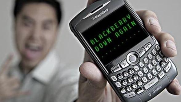 Utilizatorii de BlackBerry au din nou probleme