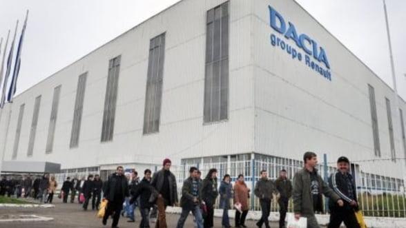 Uzina Dacia, inchisa pana luni. Angajatii nu pot ajunge la serviciu din cauza ninsorii