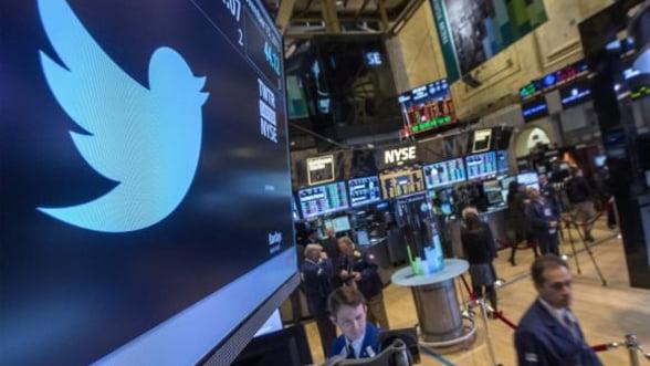 Valoarea actiunilor Twitter s-a injumatatit, in ciuda sustinerii marilor fonduri de investitii