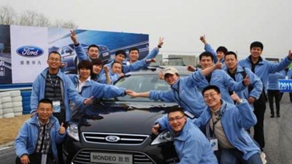 Vanzarile Ford in China au crescut in septembrie cu 61%