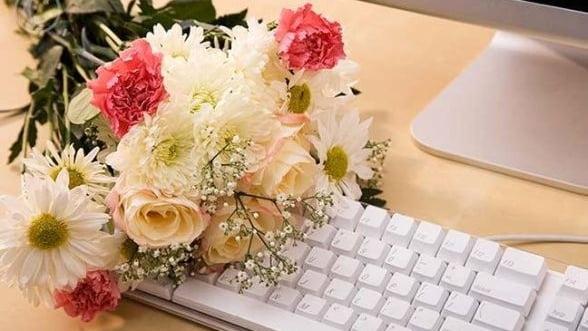 Vanzarile online de flori au crescut in primul semestru cu 10%