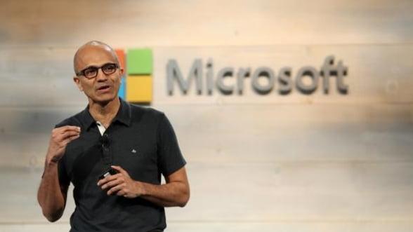 Veniturile Microsoft au crescut cu 25%, peste asteptari