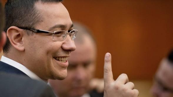 Victor Ponta: Miercuri, la 12.00, avem forma finala a noului Guvern