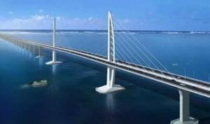 Viitorul de langa noi: Pe cel mai lung pod din lume se monteaza statii de alimentare pentru masinile electrice