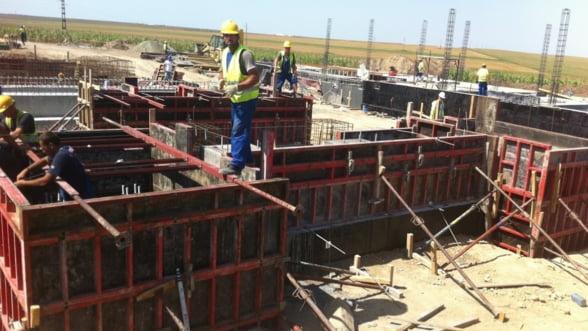 Volumul lucrarilor de constructii a scazut cu aproape 10% in primul trimestru